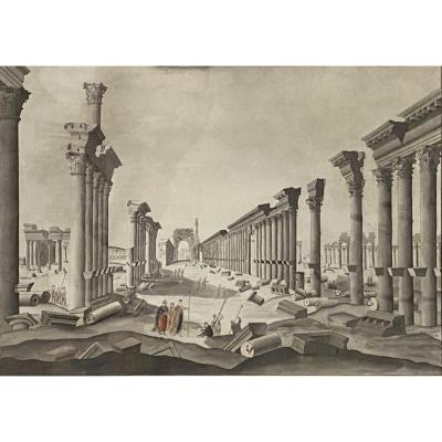 The Ruins Of The Temple Of Bel In Palmyra