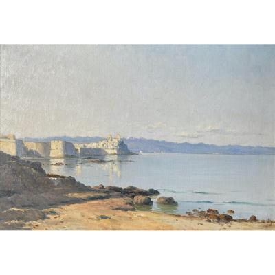 Lina Bill (1855-1936) - View Of Antibes