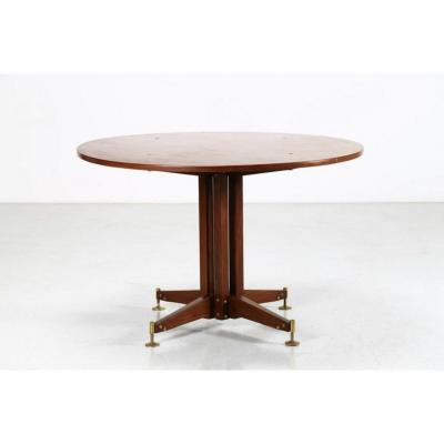 Sergio Mazza 1960s Round Table In Rosewood