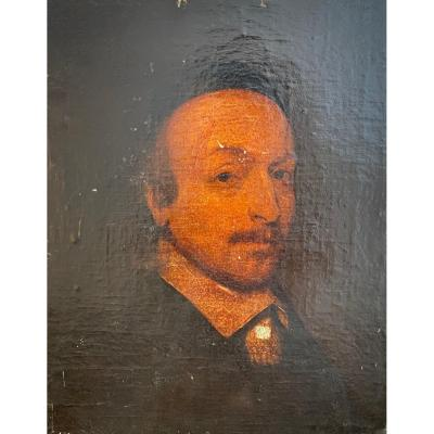 17th Century School. Possible Portrait Of William Shakespeare