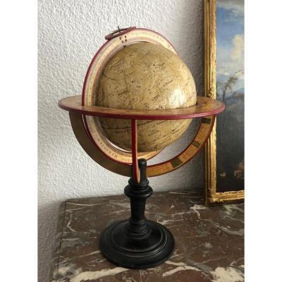 Globe Céleste Dans Le Style De Delamarche 1842