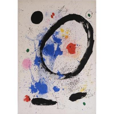 Juan Miró Lithographie Signée Galerie Maeght 1964