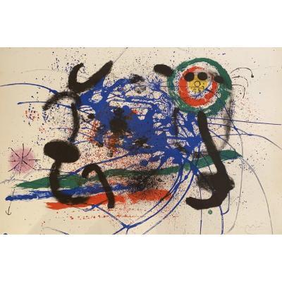 Joan Miró (1893-1983) - l'Amazone Galerie Maeght 1964