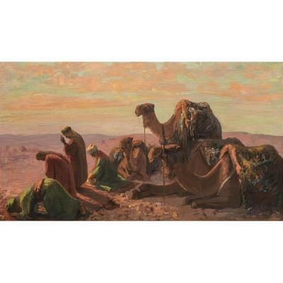 Nicholas Macsoud (1884-1972) Liban - La Prière