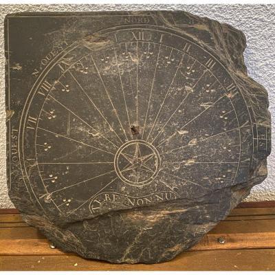 Cadran Solaire En Ardoise XVIIIème Siècle
