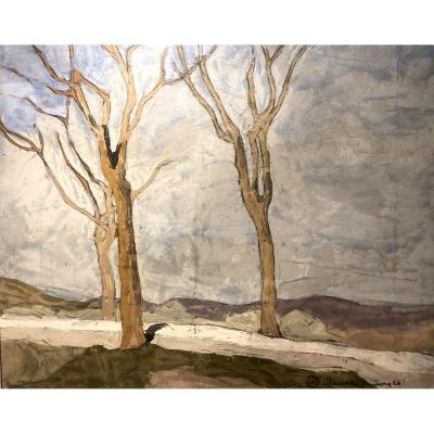 Maurice Le Scouezec (1881 - 1940) - Paysage d'Espagne - Alfarassi - 1926