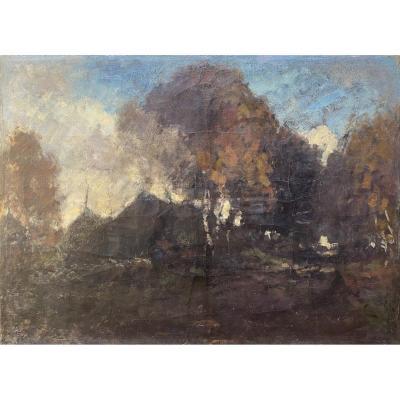 László Paál (1846 - 1879) Huile Sur Toile