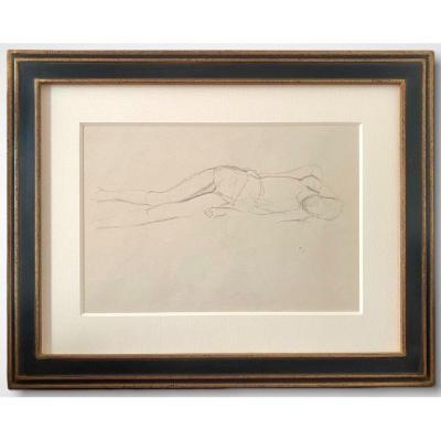 """Balthus, Balthasar Klossowski Dit Balthus (1908-2001) Dessin d'étude Pour """"La Victime"""""""