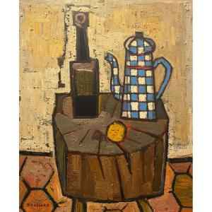 Jacques Boussard - Still Life - Oil On Canvas