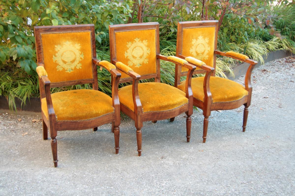 Three Mahogany Armchairs, Consulate Period