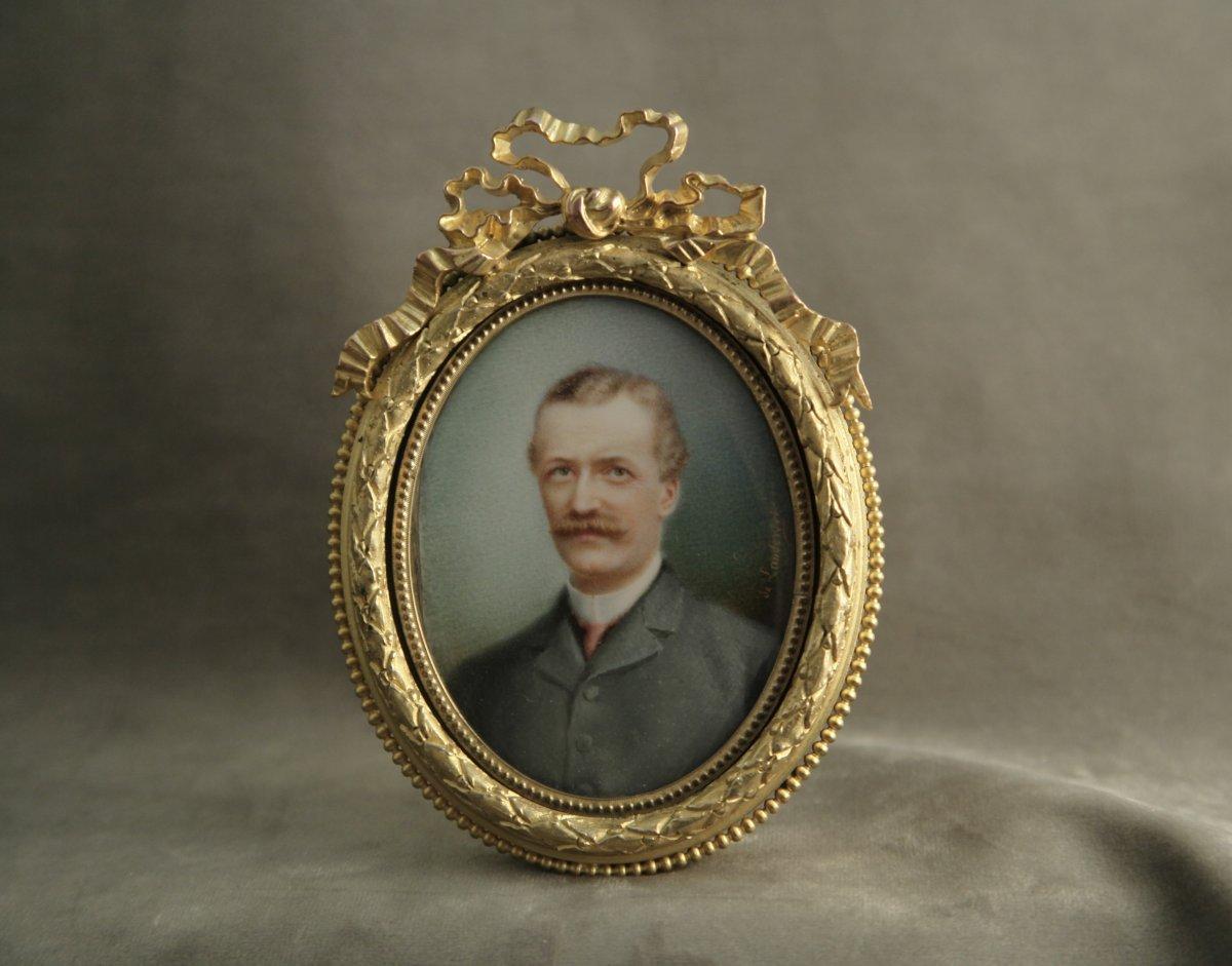 Miniature sur ivoire par Ernest de Landerset, datée 1899