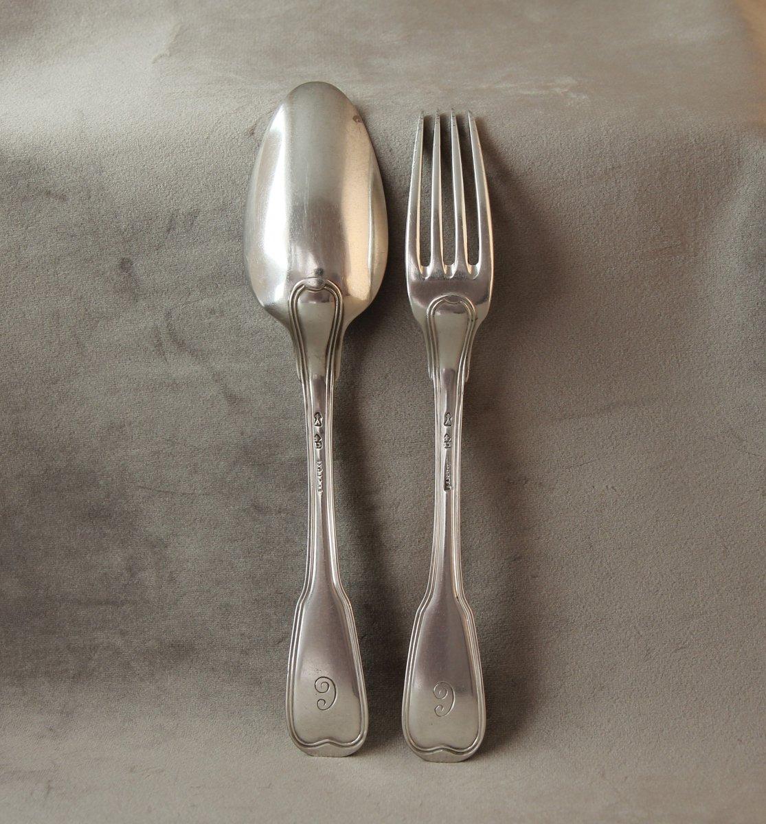 Silver Cutlery, Jacques-henri Alberti, Strasbourg 1776