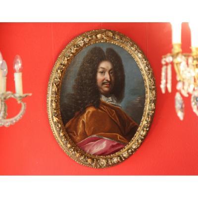 Portrait Of Gentleman, Follower Of Hyacinthe Rigaud, Circa 1690