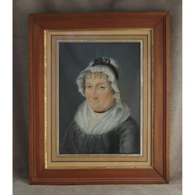 Portrait de femme - Pastel, école suisse, époque Premier Empire