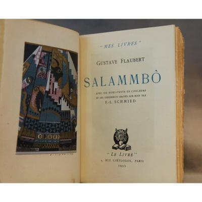 Salammbo. With Six Color Inserts And Ornaments On Wood Engraved By F.-l. Schmied