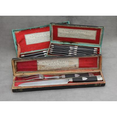 Knives & Service Set, Empire Period By Martin, Cutler In Paris