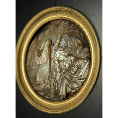 Large Carved Mother-of-pearl Medallion, South Germany Or Austria, Circa 1480