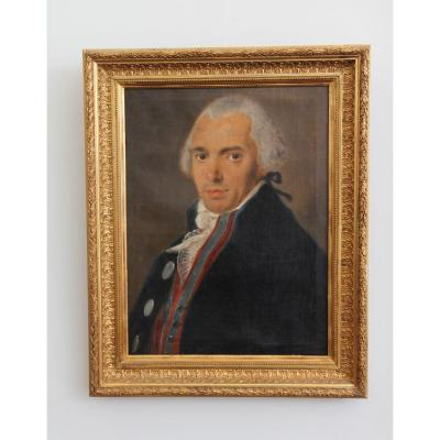 Portrait Of A 46-year-old Man, Dated 1796, In A 19th Century Frame