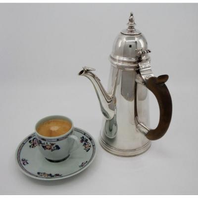 George I Style Britannia Silver Coffee Pot, John & Daniel Wellby, London 1902