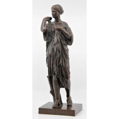Diane de Gabies, réduction en bronze éditée par le Musée du Louvre, vers 1900