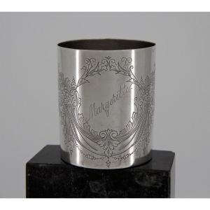 Lourde timbale en argent massif *Margeritte*, Moscou 1896