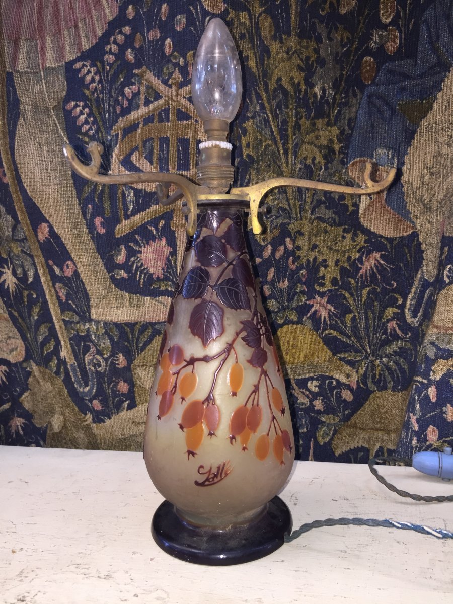 GALLE PIED DE LAMPE CHAMPIGNON  24,5.