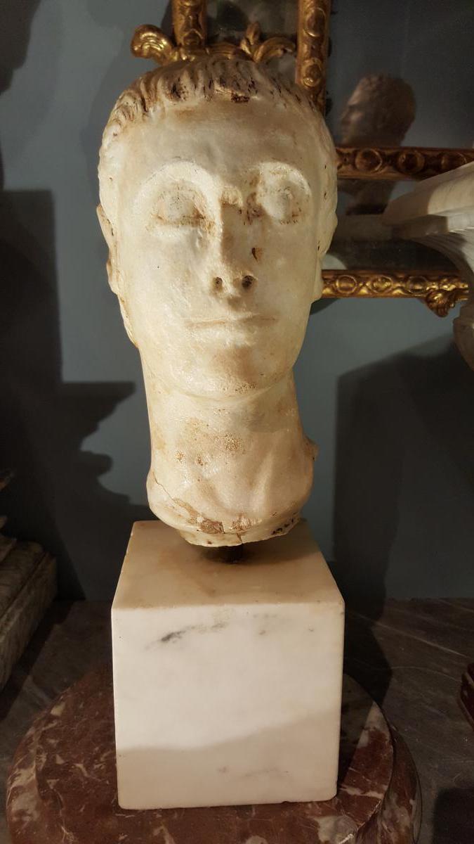Tête Marbre Gallo-romaine