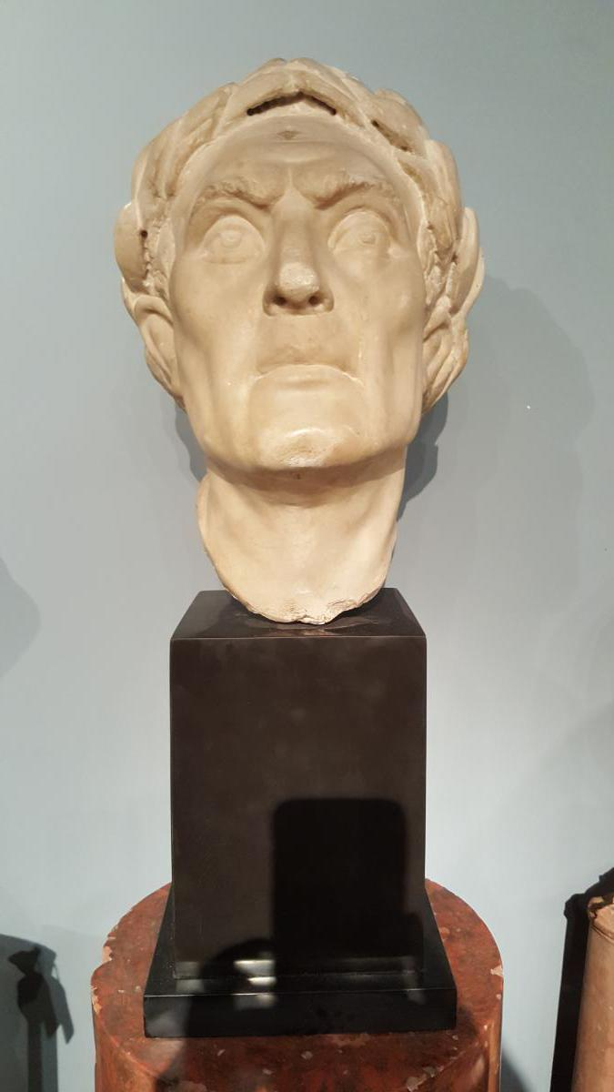 Sculpture tête empereur