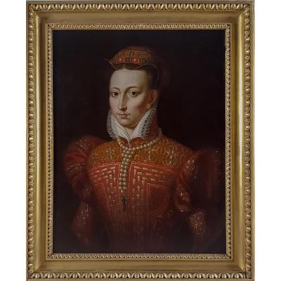 Portrait Of Mary Queen Of Scots, British 18th Century, After Federico Zuccaro (c.1540–1609)