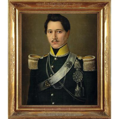 Portrait d'Un Officier Bien Signé & Daté De 1836