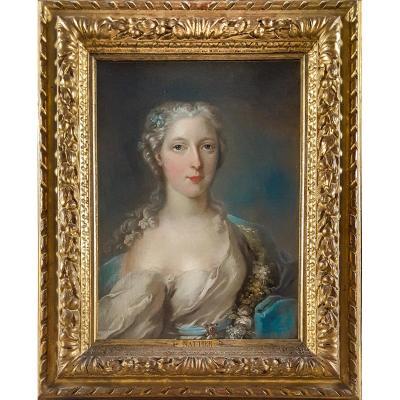 Portrait d'Une Dame Vers 1740