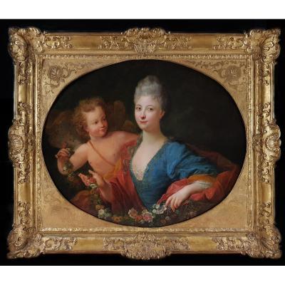 Portrait d'Une Dame, Français vers 1735