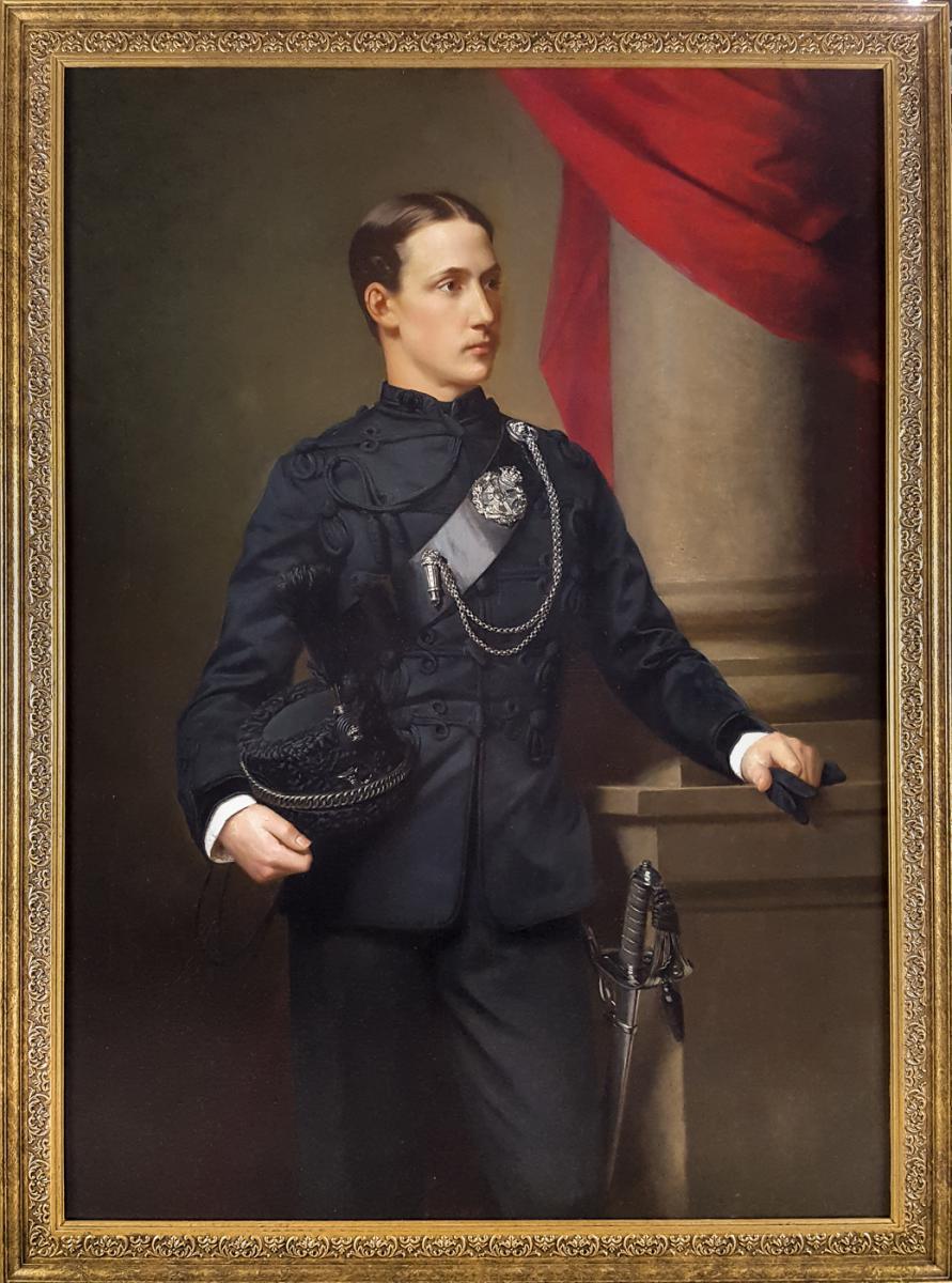 Grand Portrait D'officier Militaire Du XIXème Siècle