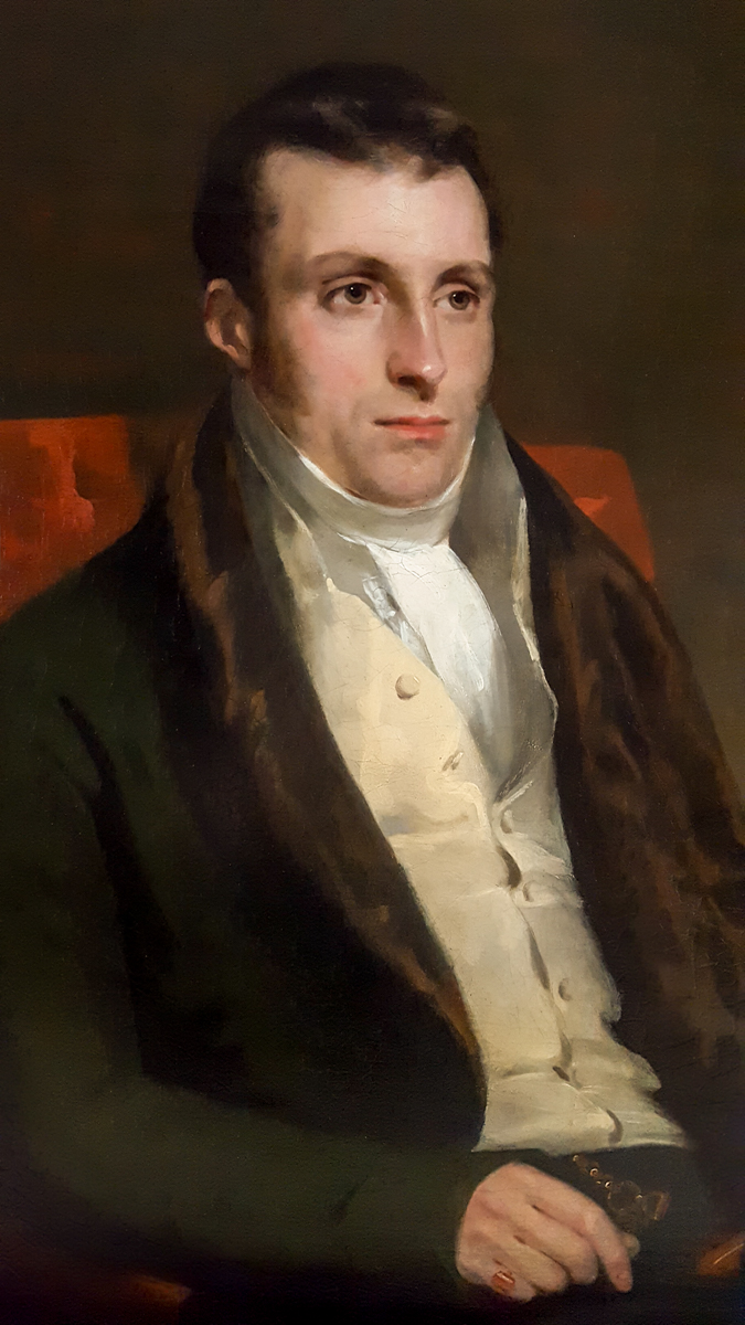 Portrait d'Un Gentilhomme, Signé Et Daté De 1818