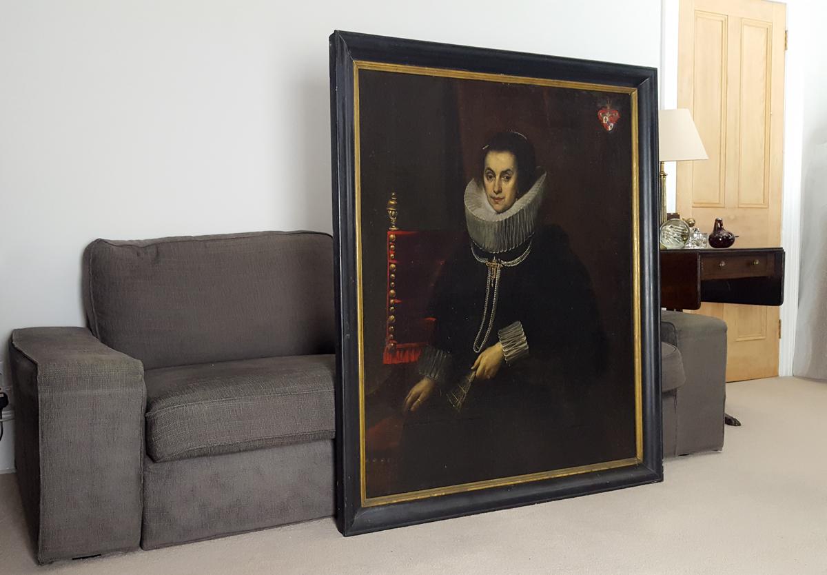 Portrait De Dame, Flamande Vers 1620