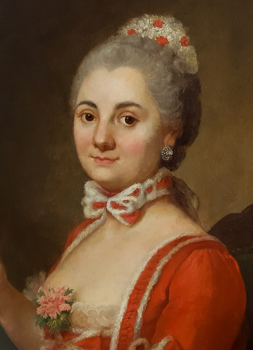 Portrait De Dame, Française Vers 1740