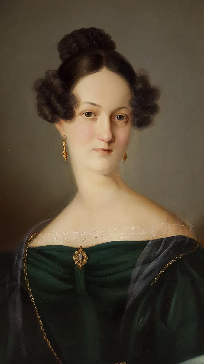 Portrait De Femme Vers 1830
