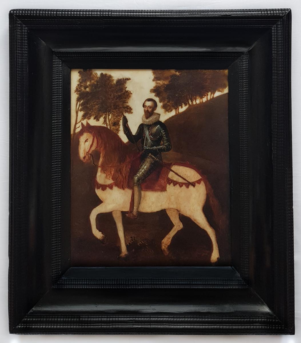 Vers 1620 Portrait équestre d'Un Gentilhomme