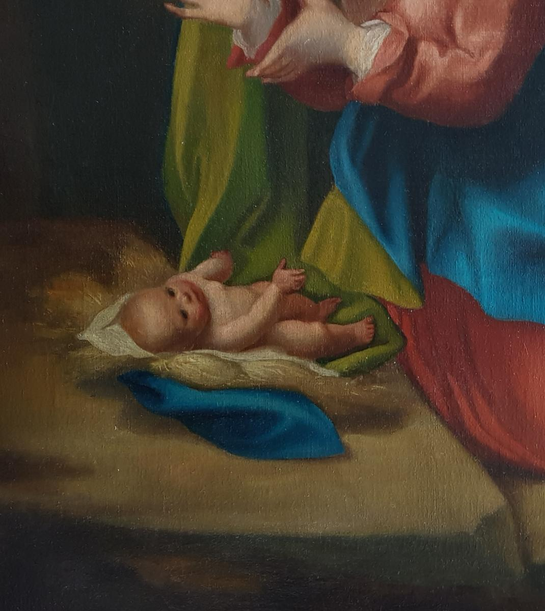 Adoration Of The Child, 19th Century; After Antonio Da Correggio (c.1490-1534)