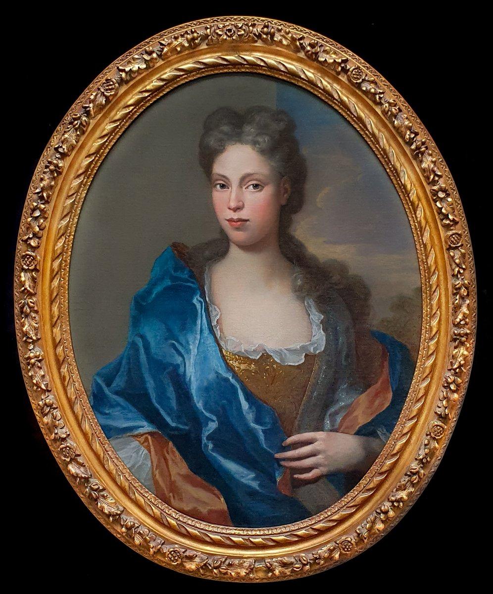 Portrait Of A Lady Circa 1700, Beautiful Frame