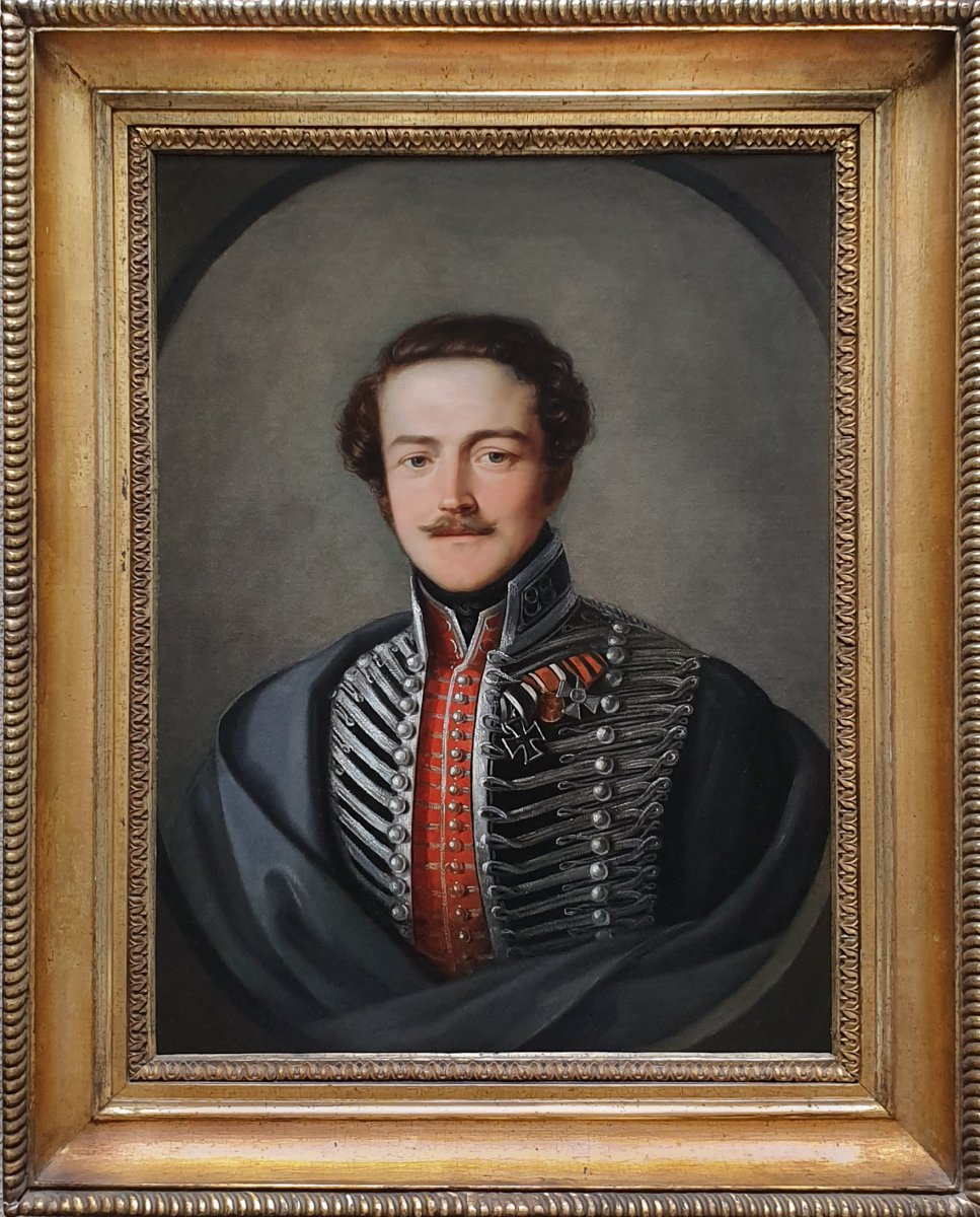 Portrait d'Un Officier Vers 1835