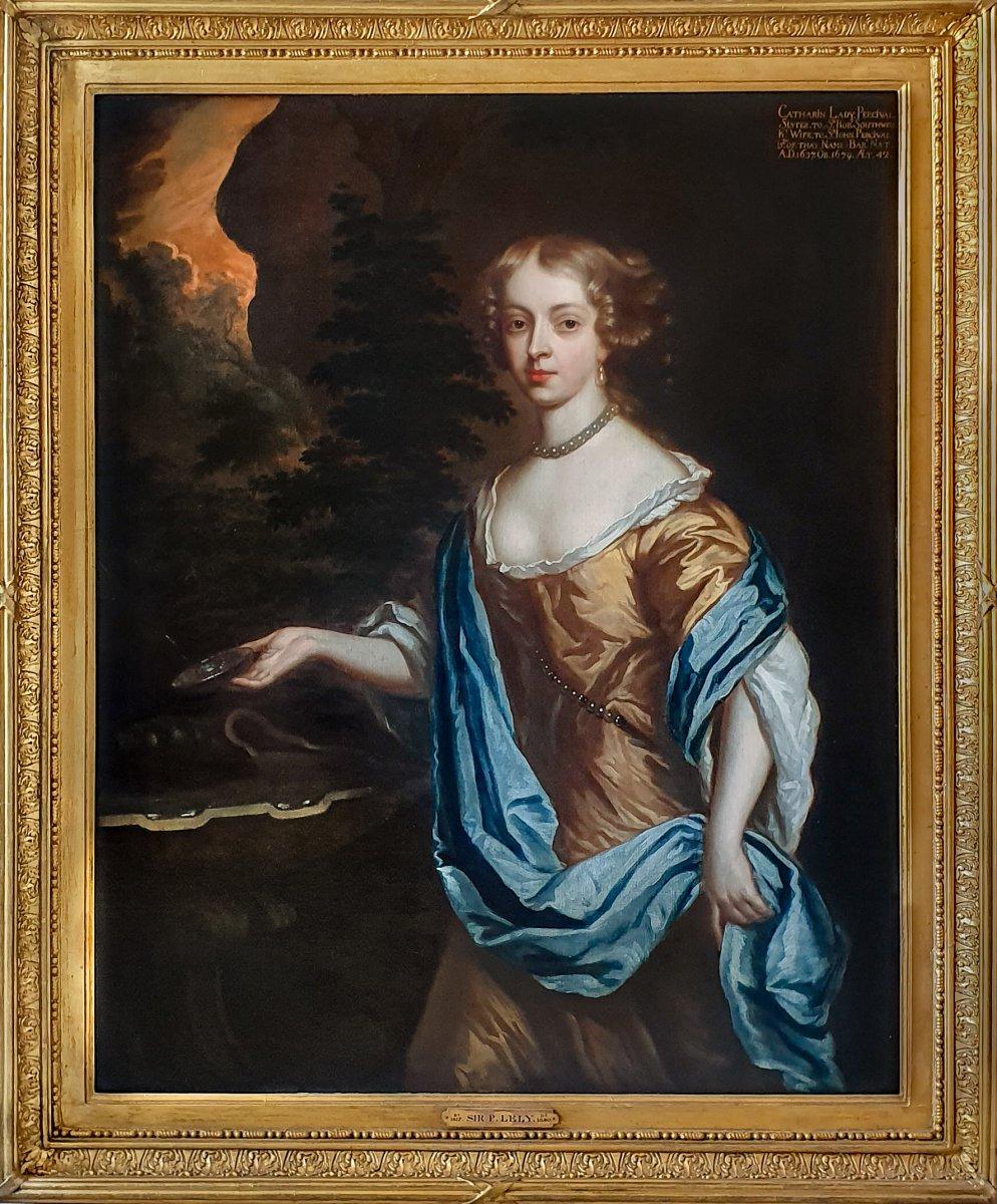 Portrait De Catherine, Dame Perceval (1637-1679) Vers 1661