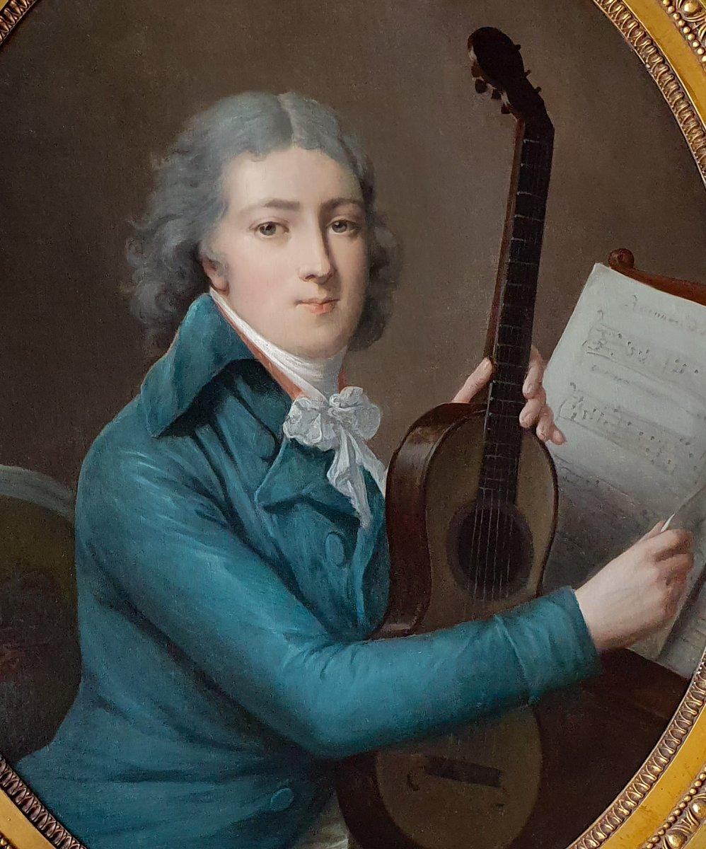 Portrait d'Un Gentleman Avec Une Guitare Ancienne, Vers 1795
