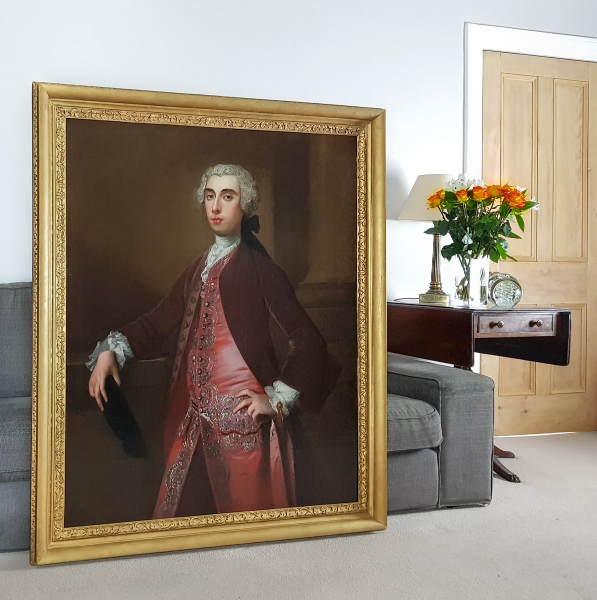 Portrait d'Un Gentleman Vers 1740