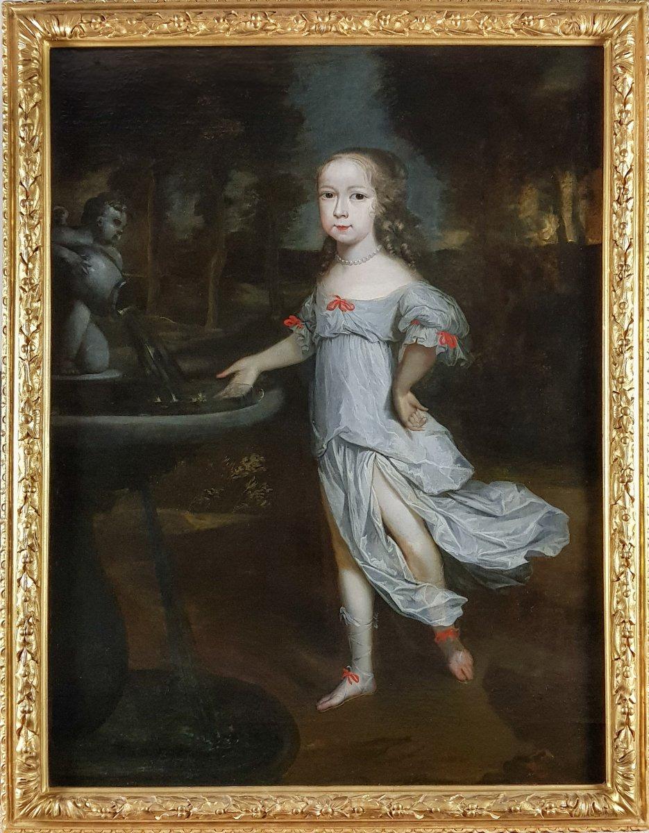 Vers 1662 Portrait d'Une Fille; Entourage d'Abraham Van Der Tempel (c.1622-1672)