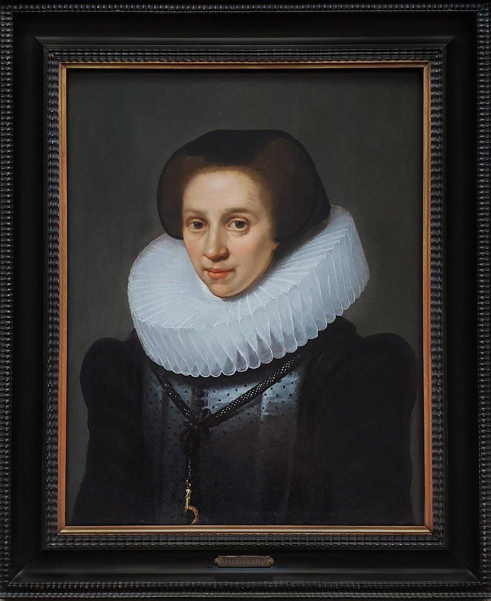 Vers 1620 Portrait d'Une Dame; Attribué à Michiel Jansz Van Mierevelt (1567-1641)