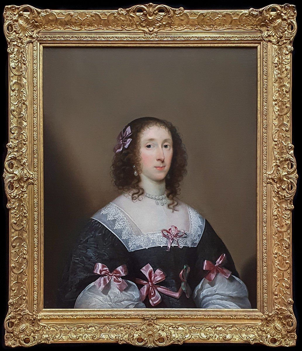 Portrait Of Elizabeth Penyston C.1635; Cornelius Johnson (1593-1664), Signed And Dated
