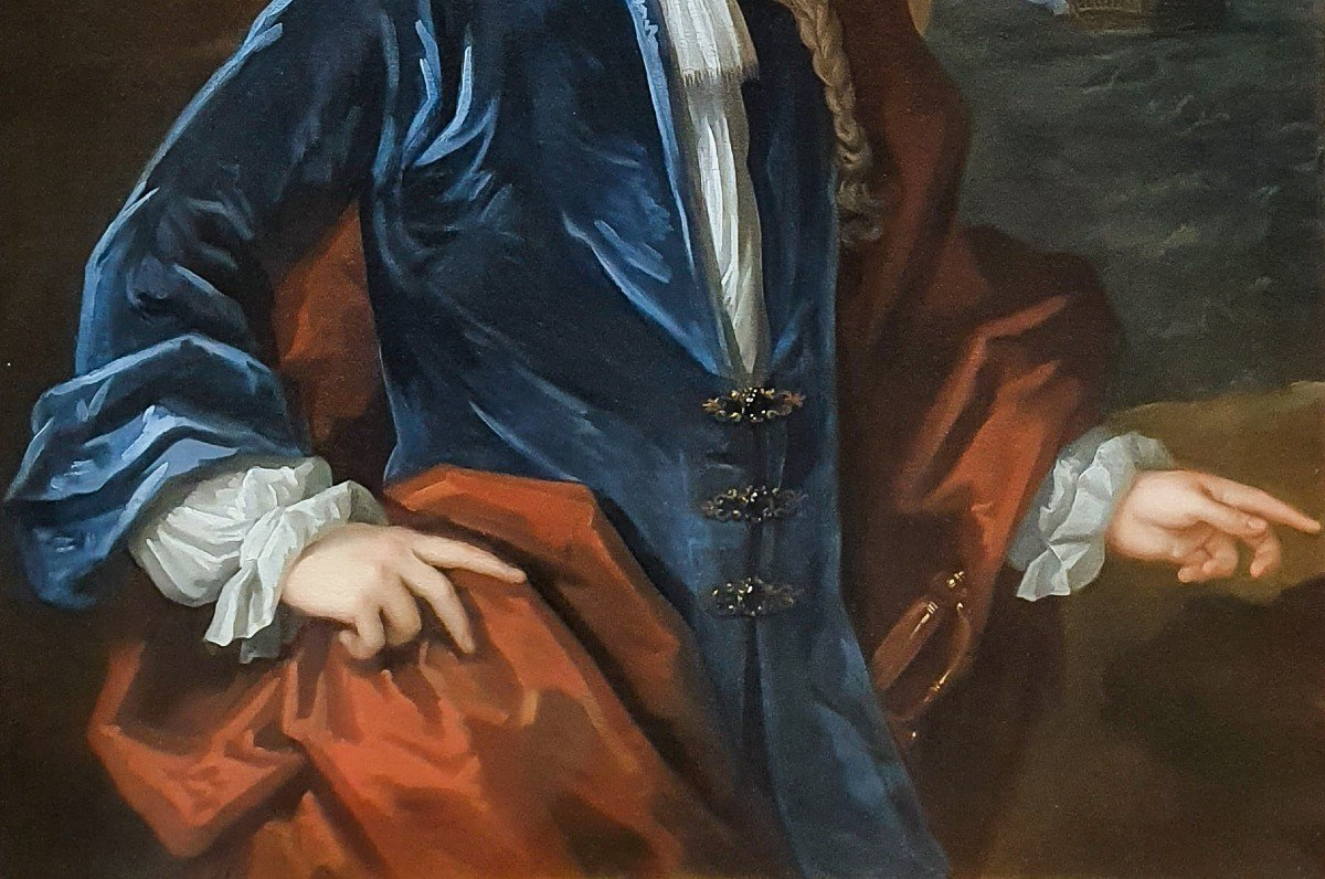 Vers 171 Portrait Du Capitaine James Monypenny (1670-1721)-photo-2