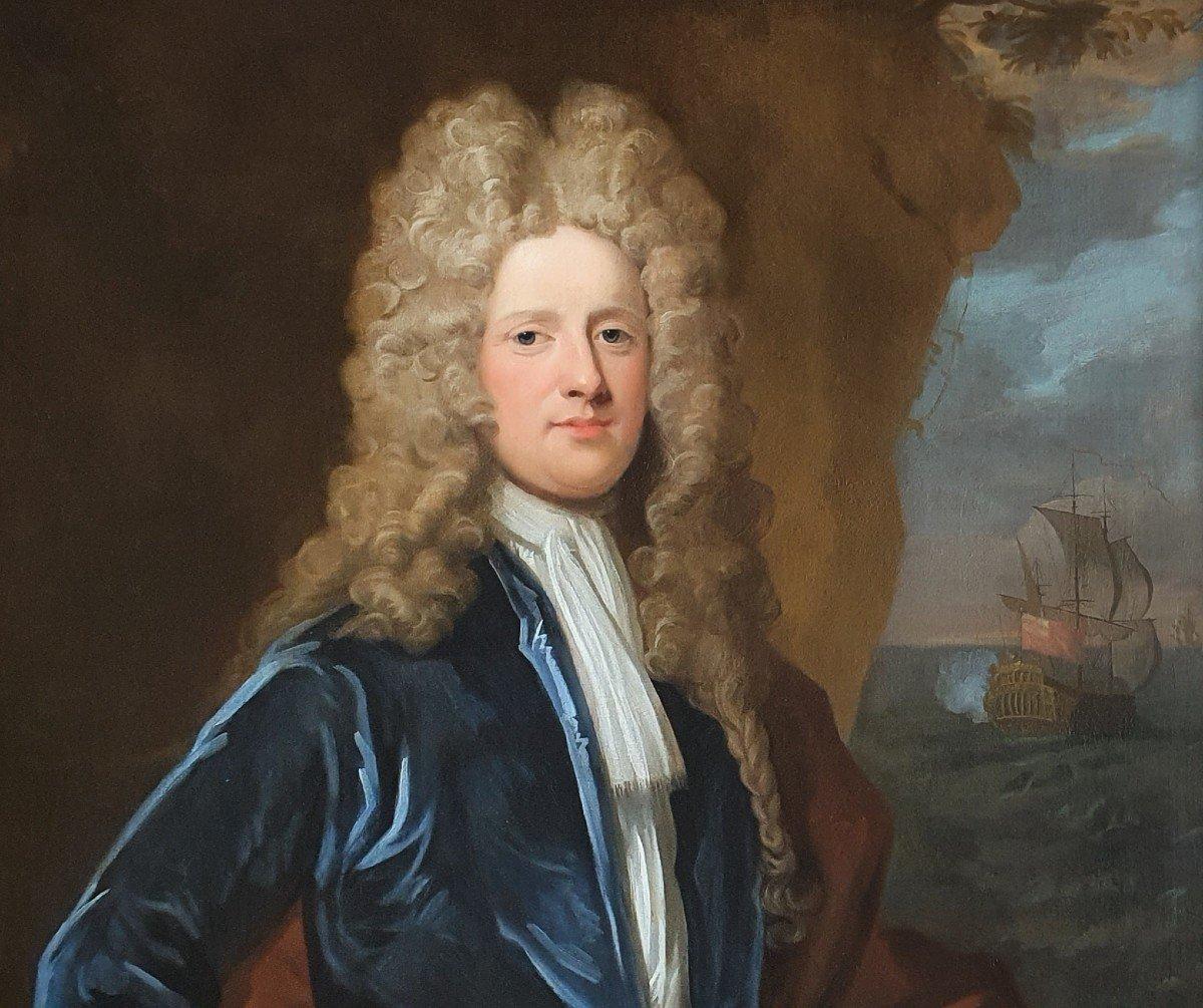 Vers 171 Portrait Du Capitaine James Monypenny (1670-1721)-photo-3