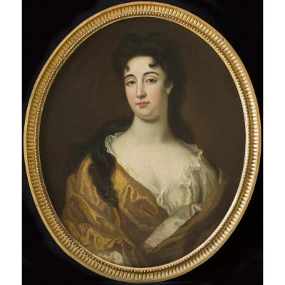Fine Large English 17th Century Portrait Of A Lady